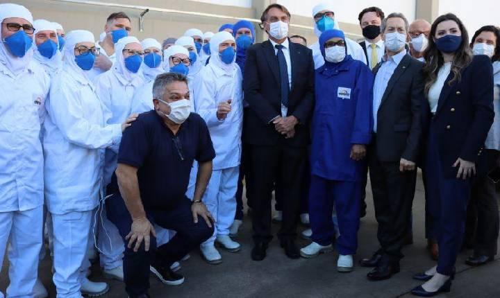 Bolsonaro visita Aurora Alimentos