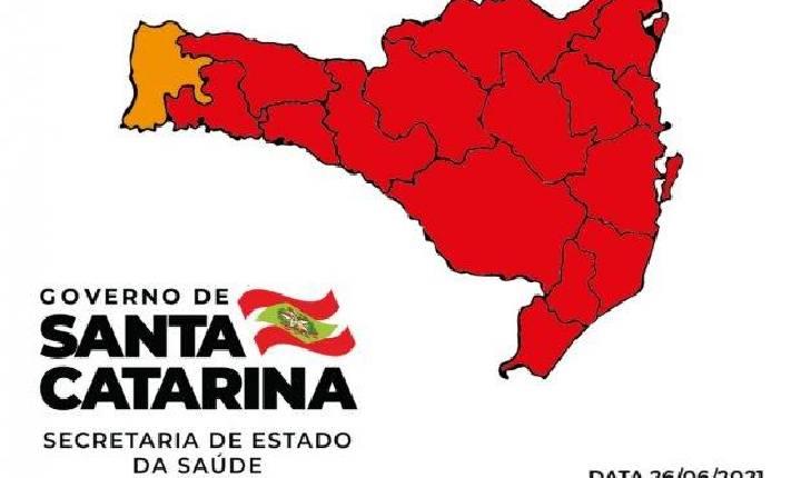 Coronavírus em SC: Matriz aponta 15 regiões do Estado em risco gravíssimo para Covid-19