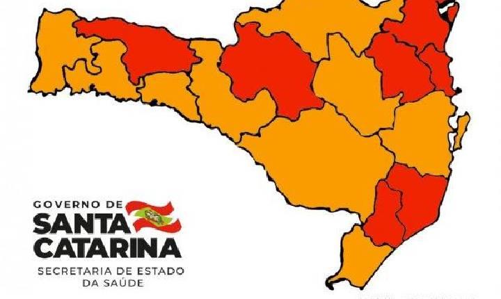 Coronavírus SC: Matriz de risco aponta nove regiões em estado grave e sete em gravíssimo