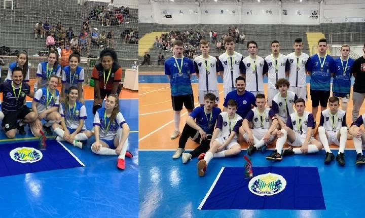 Futsal de Xavantina fica Vice Campeão nas categorias Masculino e Feminino na Olesc 2021, em Xanxerê
