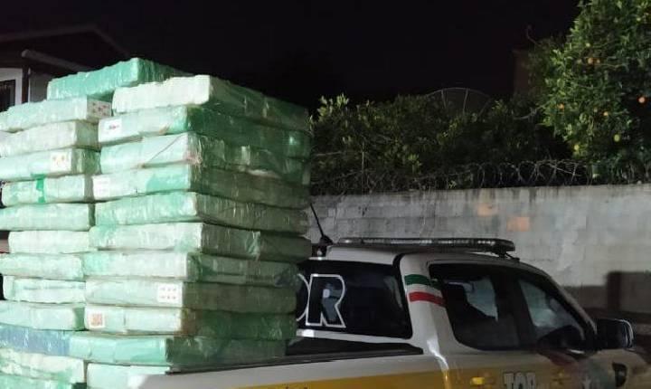 Mais de 700 quilos de maconha são apreendidos em veículo na BR-470
