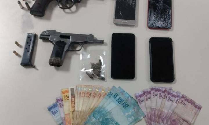 PM de Concórdia apreende três armas de fogo e conduz três pessoas por porte ilegal