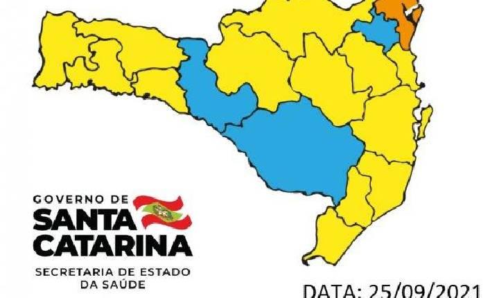 SC: Matriz de Risco aponta apenas uma região em estado grave e outras em alto e moderado
