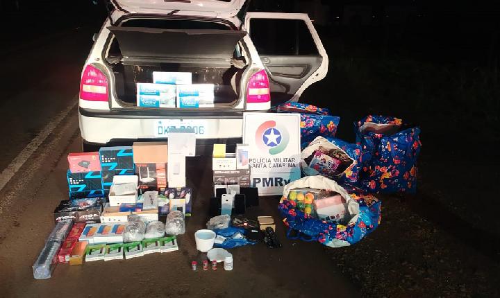 Veículo de Xavantina flagrado com quase 30 mil em mercadorias ilegais do Paraguai